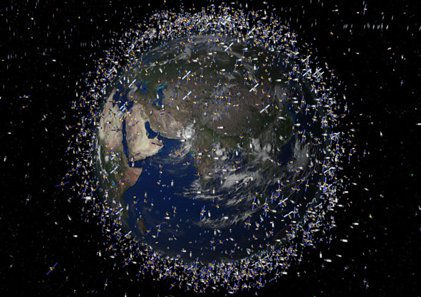 Satellites around Earth / ESA